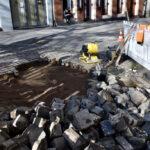 Dauerbaustelle am Carlsplatz behoben