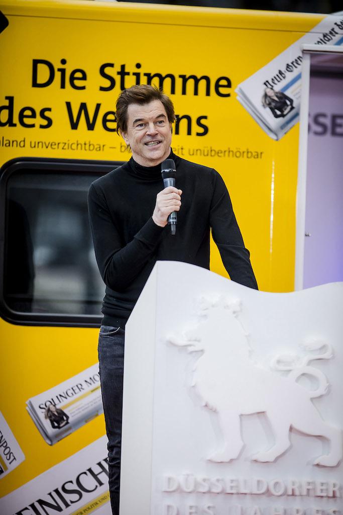 Düsseldorfer des Jahres 2020, Laudator Campino von den toten Hosen. Foto: Anne Orthen