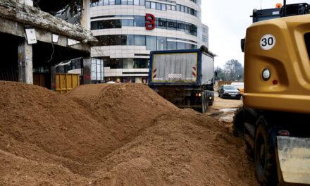 Kelleruntergeschoß wird mit Sand aufgefüllt