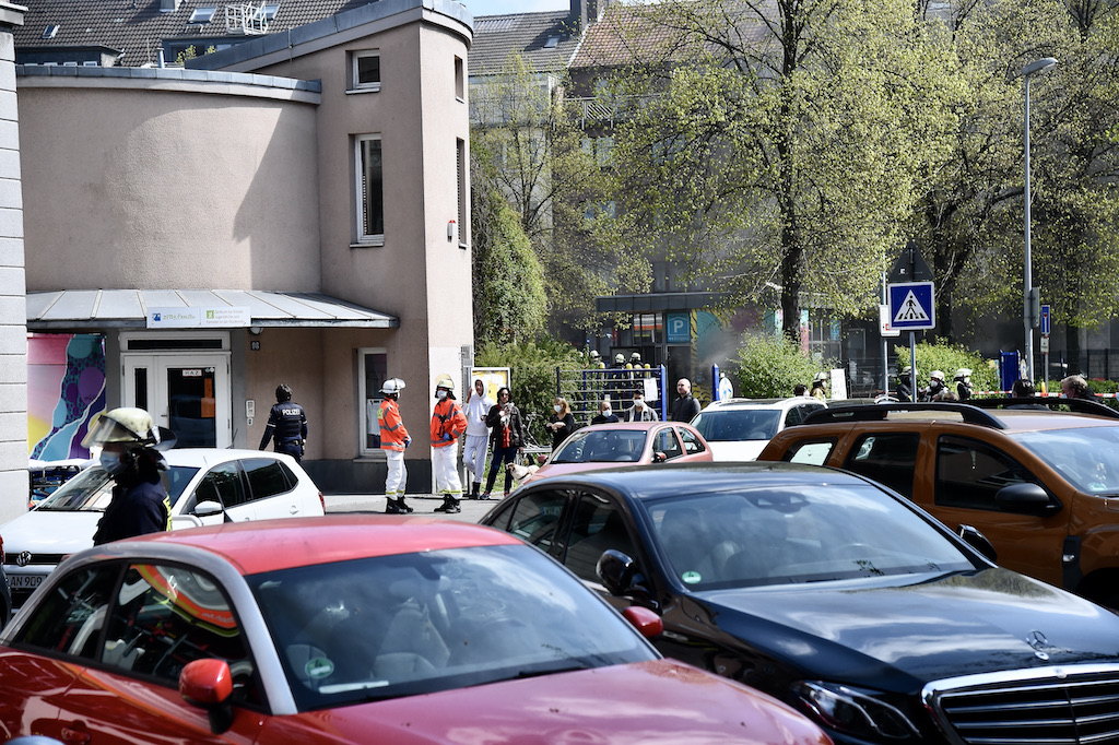 Feuer im Parkhaus in der Klosterstraße Foto: LOKALBÜRO