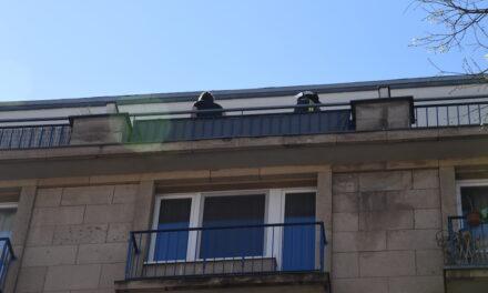 Risse im Gebäude vom Steigenberger Hotel