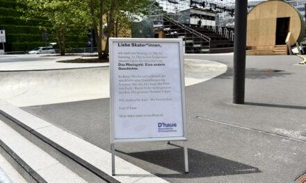Skaterbahn am Schauspielhaus wegen Proben gesperrt