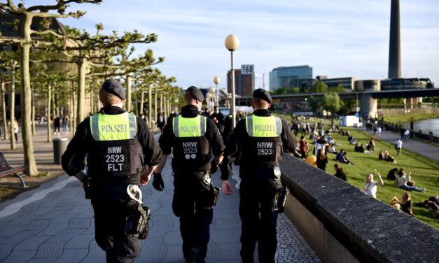 Polizeieinsatz an der Freitreppe