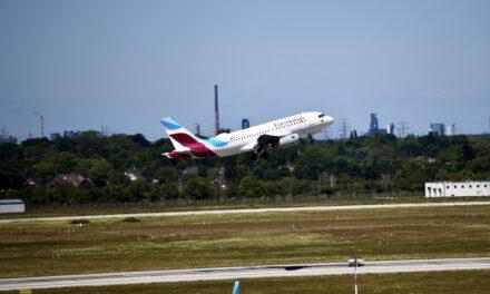 Steigender Flugverkehr am Düsseldorfer Airport