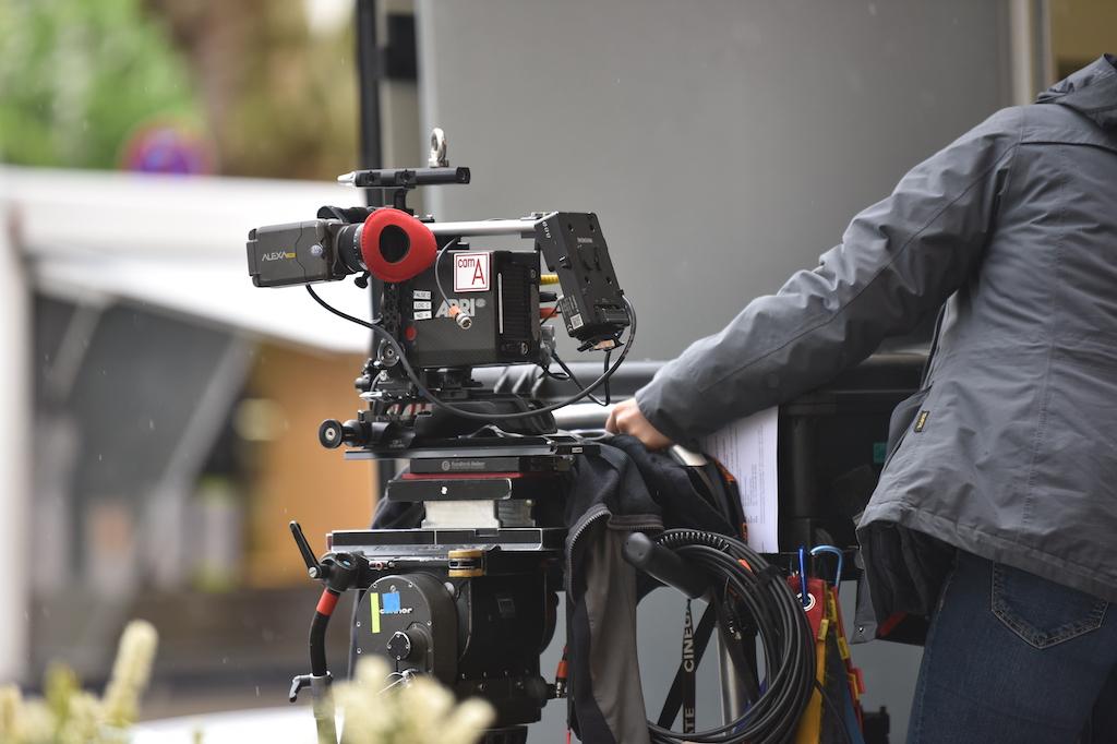 Filmteam auf der KÖ Foto: LOKALBÜRO