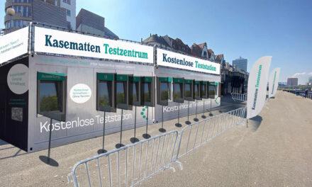 Eröffnung Kasematten Testzentrum am Rheinufer