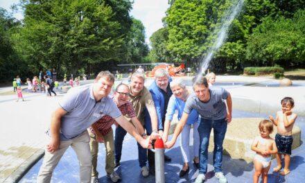 Wasser marsch auf den Düsseldorfer Wasserspielplätzen