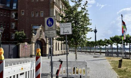 Neue Regeln für E‑Scooter-Nutzung an der Rheinuferpromenade: Test läuft weiter