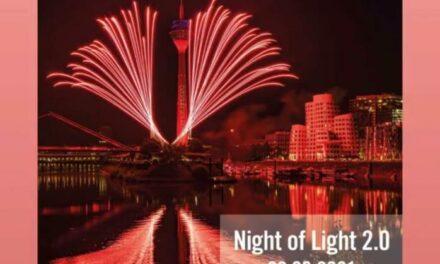 NIGHT OF LIGHT 2021 – RHEINTURM DÜSSELDORF