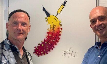 Corona-Kunst Banane für Dr. Peter Sommer