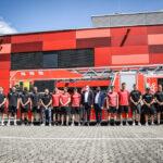 Düsseldorfer EG, Krefeld Pinguine und Kölner Haie messen sich im Feuerwehrcontest