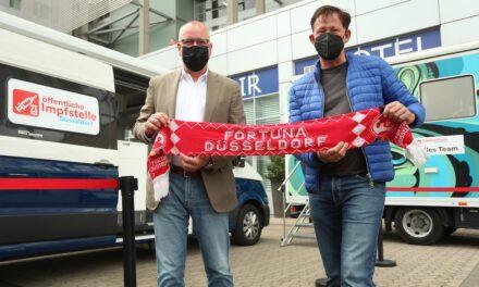 Impfen vor dem Heimspiel von Fortuna Düsseldorf