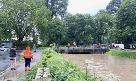 Düssel bedroht Ostpark-Siedlung: Strom wird ab 15.30 Uhr abgeschaltet