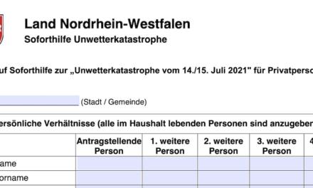 Hochwasser: NRW-Soforthilfen für betroffene Düsseldorfer Privatleute und Unternehmen