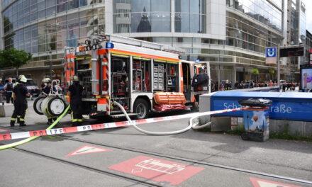 U‑Bahn Verkehr kommt wegen rauchender Bremse zum Stillstand