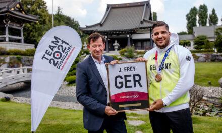Judoka Johannes Frey  hat bei den Sommerspielen in Tokio im Teamwettbewerb die Bronze-Medaille gewonnen