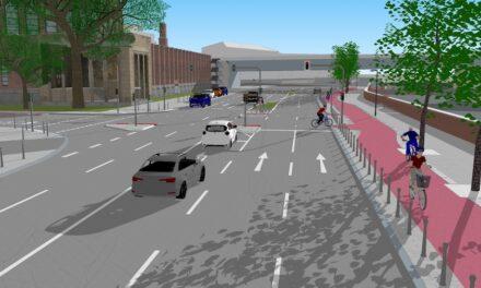 Ausbau des Radweges am Joseph-Beuys-Ufer: Jetzt geht eslos