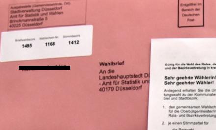 Bundestagswahl am 26. September: 409.316 Wahlberechtigte in Düsseldorf