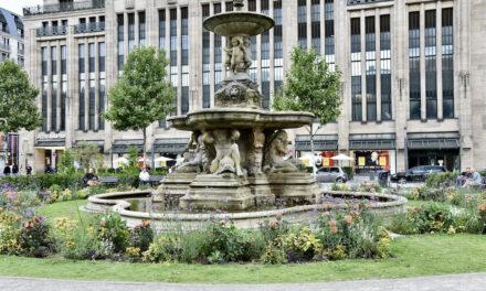 Tritonenbrunnen, Schalenbrunnen und Gröne Jong sprudeln nicht