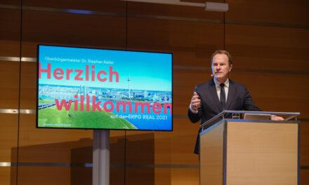 Oberbürgermeister Dr. Stephan Keller präsentiert den Wirtschafts- und Immobilienstandort Düsseldorf
