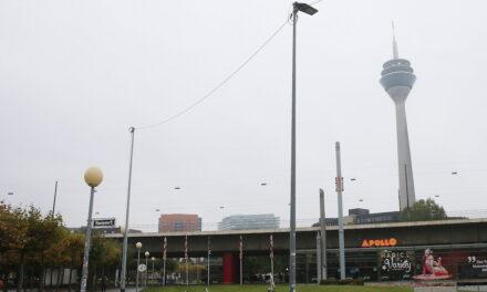 Landeshauptstadt Düsseldorf errichtet Lichtmasten für mehr Sicherheit an der Rheinuferpromenade