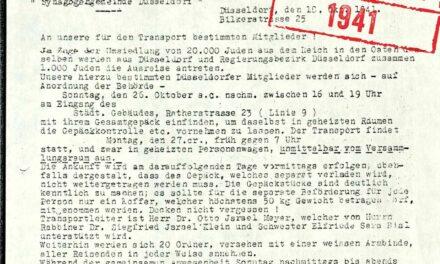 Erinnerung an den Beginn der Deportationen im Herbst 1941